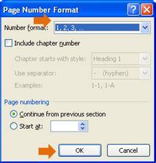 cara membuat penomoran halaman pada ms word 2010 cara memberikan jenis penomoran berbeda pada microsoft