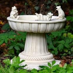 frog bird bath garden ornament bird baths