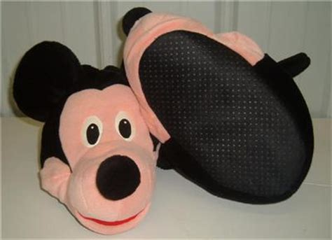 mickey mouse house slippers disney mickey mouse house shoes slippers small adult ebay