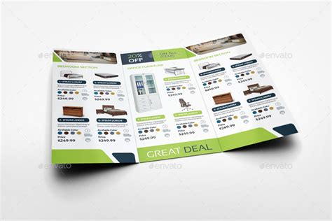 Furniture Products Catalog Tri Fold Brochure Template Vol