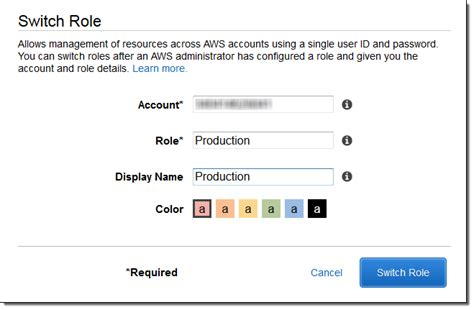 aws console access new cross account access in the aws management console