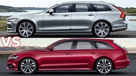 volvo versus audi 2017 volvo v90 vs audi a6 avant exterior interior drive