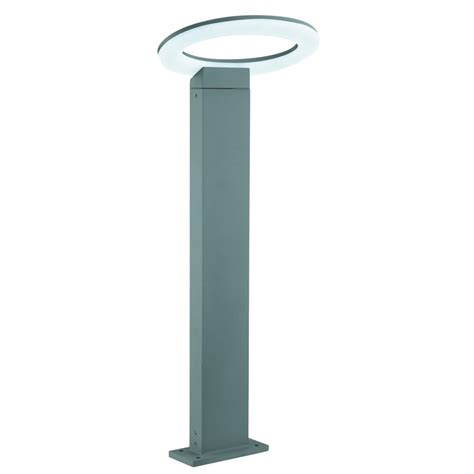 Halo Outdoor Lighting 3558 600gy Led Outdoor Halo Oval Post H600cm Grey Frosted Diffuser