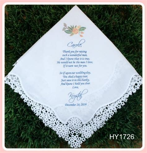 lace handkerchief wedding invitations wedding hankerchief of the groom gift printed