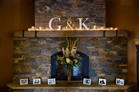 wedding fireplace decorations on
