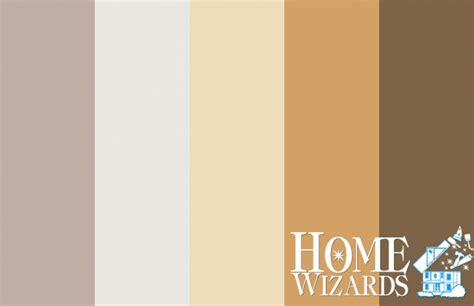 color palette relaxed rustic charm home wizards