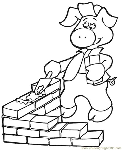 The Three Little Pigs Printables Coloring Home Three Pigs Coloring Pages