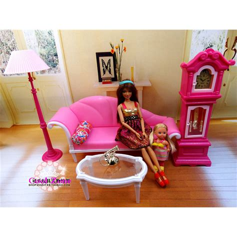 barbie dolls house furniture miniature luxury living room furniture set for barbie doll house best gift toys for