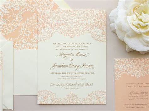 Elegante Hochzeitseinladungen by Lace Wedding Invitation Vintage Lace Invitation