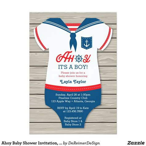 Ahoy Baby Boy Baby Shower by Ahoy Baby Shower Invitation Sailor Nautical Invitation