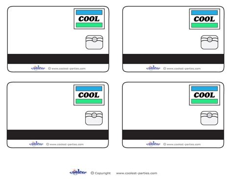 credit card template 2020 blank printable cool credit card thank you cards for a