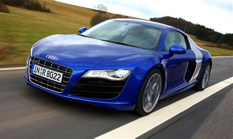 audi r8 v10 in blue and silver planes trains but