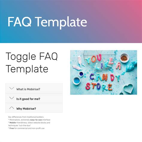 Faq Sheet Template by Free Bootstrap Template 2018