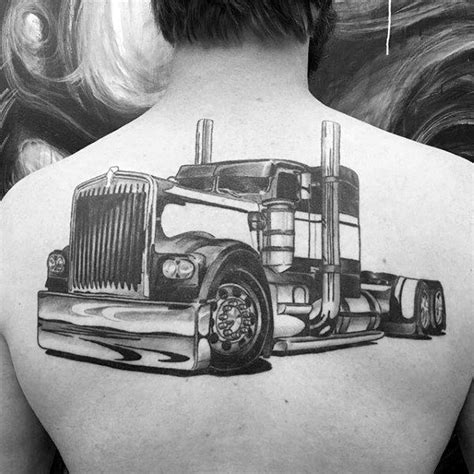 tattoo pictures heavy equipment 60 truck tattoos for men vintage and big rig ink design