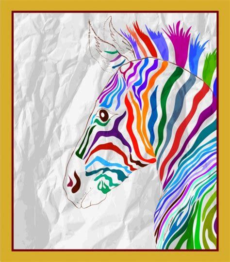wallpaper garis zebra zebra gambar berwarna warni handdrawn sketsa vektor