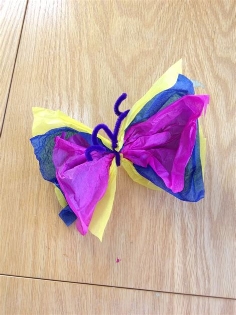 Butterfly Tissue Paper Craft - pin by sunnyearthacademy on earth c