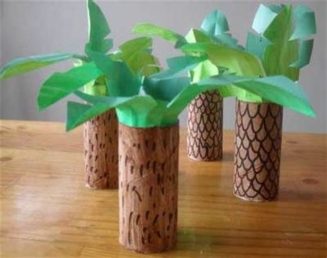 How To Make Rainforest Trees Out Of Paper - bricolage sur la jungle afrique jardins