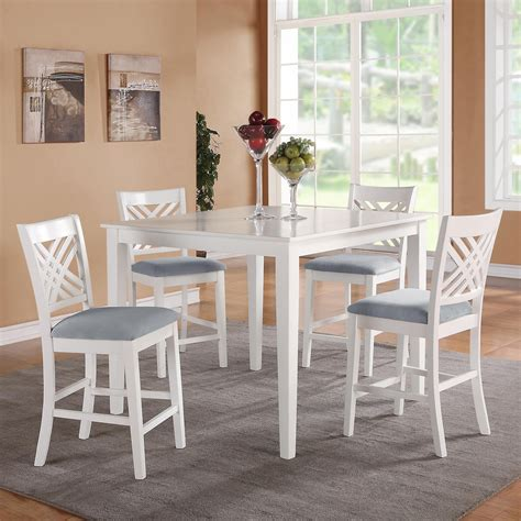white dining table set standard furniture 5 counter height dining