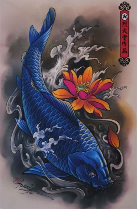 blue koi fish tattoo 30 koi fish designs with meanings
