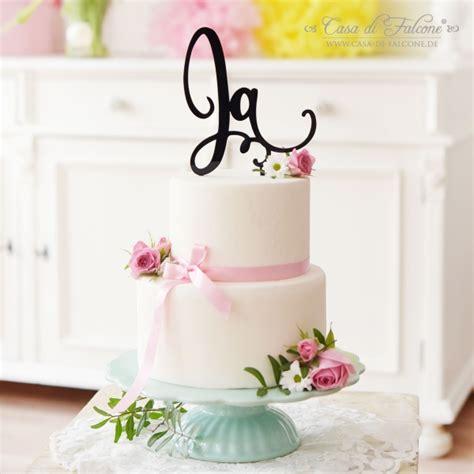 Ja Hochzeit by Cake Topper Hochzeit Ja I Tortenstecker Hochzeitstorte
