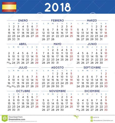Calendario De Colombia Año 2018 El A 241 O 2018 Ajust 243 Comienzo Espa 241 Ol De La Semana