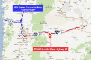 columbia river oregon map columbia river highway 2