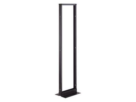 great lakes 19 open bay relay rack black anodized