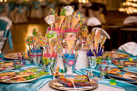 kid s table at the reception wedding flowers decoration