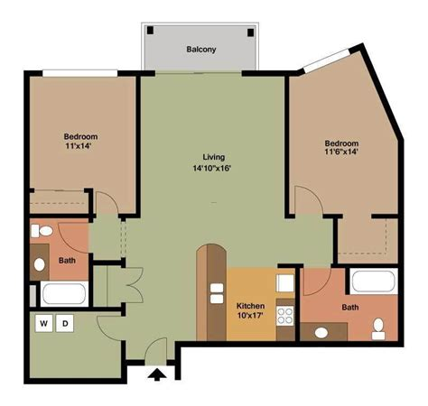 two bedroom flat floor plan 2 bedroom apartment floor plans archives design bookmark