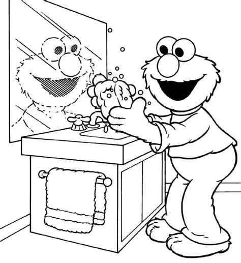Hand Washing Coloring Pages Bestofcoloring Com Handwashing Coloring Pages