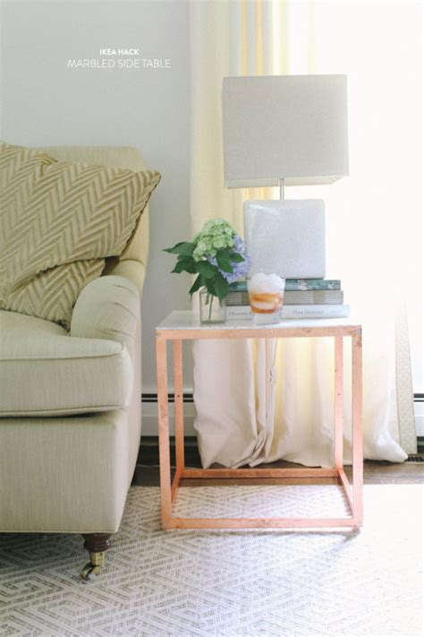 ikea end table hack diy ikea side table hack style me pretty living