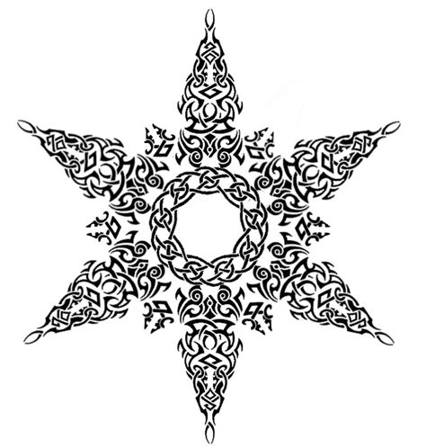 tribal celtic snowflake tattoo by annikki on deviantart