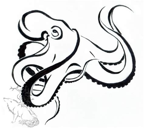 octopus tribal tattoos designs octopus design by silverheartx on deviantart