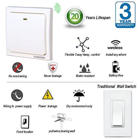 wireless light switch and receiver kit acegoo wireless lights switch kit self powered battery