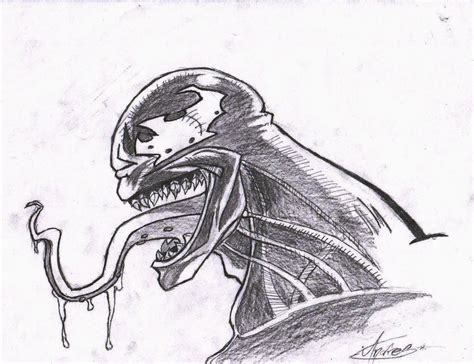 imagenes para dibujar sombreado venom para dibujar imagui