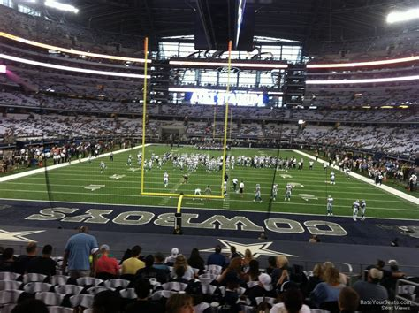 cowboys stadium sections at t stadium section 123 dallas cowboys rateyourseats com