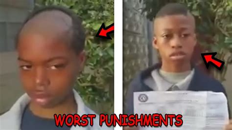 i need a punishment haircut top 5 most embarrassing punishments by parents on kids