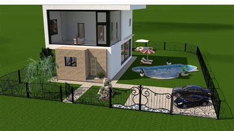 4d home design software modern house interior exterior design 3d model rigged
