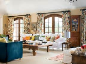 Patterned Curtains Living Room Photo Page Hgtv