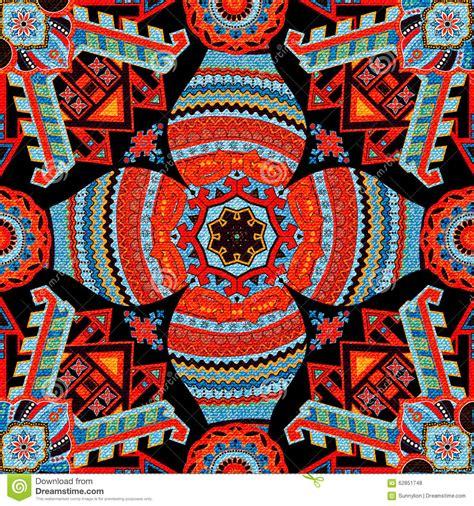 colorful ethnic wallpaper geometrical seamless pattern ethnic wallpaper stock
