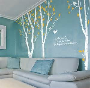 tree stencil for wall mural large white birch tree decal tree wall decals by