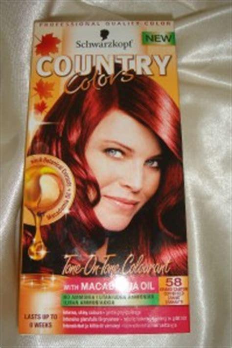 cynsanta hair color schwarzkopf country colors hair dye 58 grand canyon red ebay