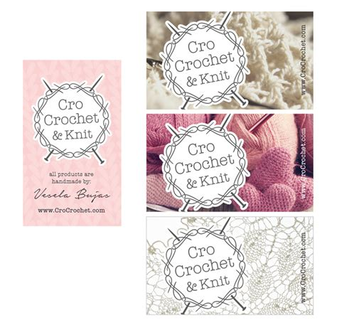 crochet business card templates business cards for crochet business images card design
