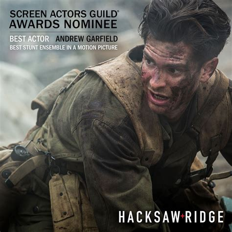 hacksaw ridge live hacksaw ridge on quot congratulations hacksawridge on sagawards nominations for best