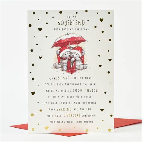 25 days of christmas letter for boyfriend card boyfriend bears only 99p