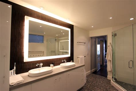 master bathroom mirror ideas rectangular wall mirror with lights for master bathroom