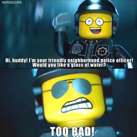 The Lego Movie Meme - good cop bad cop one of our favorite scenes from the
