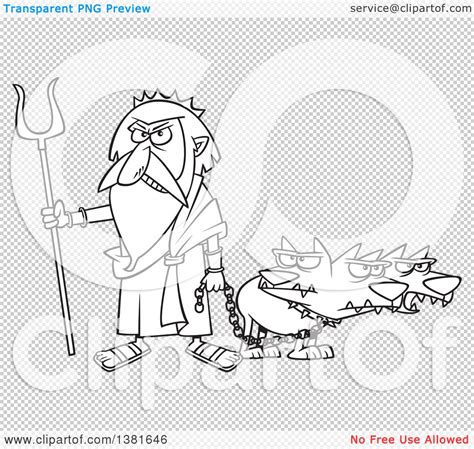 mythological dog cerberus vector illustration in cartoon style zeus clipart cerberus pencil and in color zeus clipart