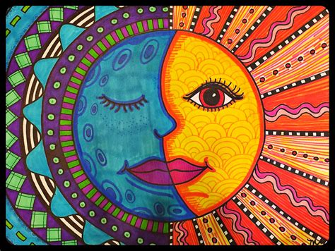 pattern art class warm sun cool moon mexican folk art project for grades 3