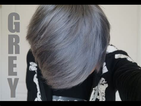 what to dye your hair when its black how to dye your hair silver grey the safe way youtube